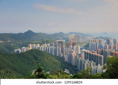 View of Hong Kong buildings at Tseung Kwan O at Kowloon