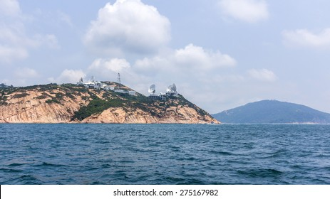 View from Hong Kong Satellite Earth Station from South China Sea