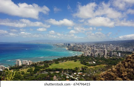 View of Honolulu and Waikiki from Diamond Head