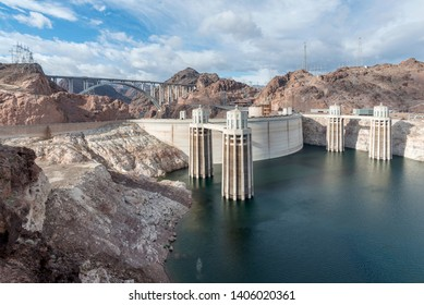 View of the Hoover Dam and the Hoover Dam Bypass between Arizona and Nevada, USA - Image
