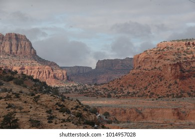 View of the Hopi Nation Reservation from Desert View, exit from the Grand Canyon