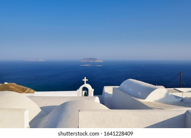 view from the Hora of the island of Anafi in the Greek Cyclades