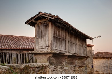 View of the Horreo, typical spanish granary