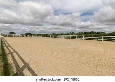 View of a horse arena (picadero) used for training and relaxation.