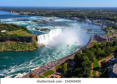 The view of the Horseshoe Fall, Niagara Falls, Ontario, Canada