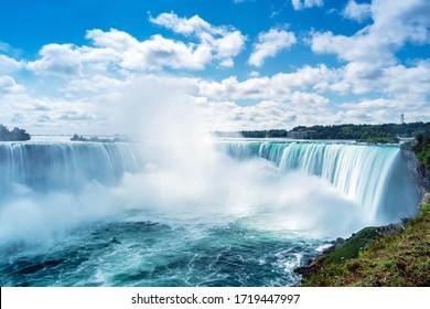 View of Horseshoe Fall, Niagara Falls, Ontario, Canada. - Shutterstock ID 1719447997