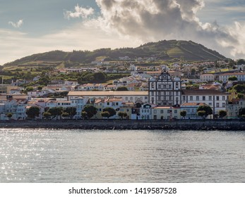 View of Horta, the capital of Faial Island in the Azores