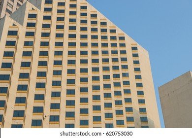The view of hotel buildings