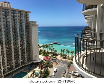 View from the hotel Waikiki Beach
