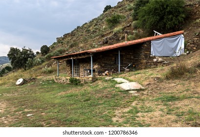 View of a house built in traditional local architecture which today lodges the low level security of this World Heritage Site of Prehistoric Rock Engravings of the Coa Valley, Portugal