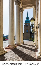 view from the house of history on the Karolinenplatz in Darmstadt, Germany