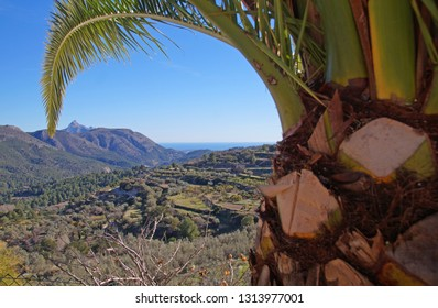 View from a house towards the surroundings of Guadalest in the province of Alicante, Spain