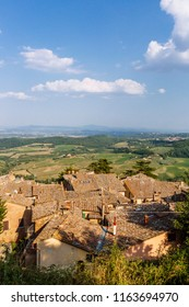 View of Houses and Landscape near Montepulciano, Italy