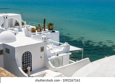 View to houses of old medina of Hammamet, Tunisia
