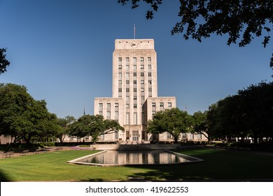 A view of Houston City Hall