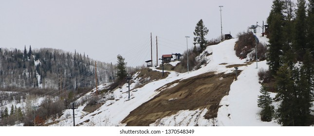 View: Howelsen Ski Resort in Early Spring, Steamboat Springs, CO/USA (April 15, 2019)