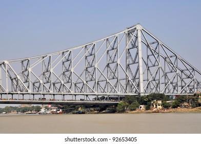 View of a Howrah Bidge in Kolkata India.