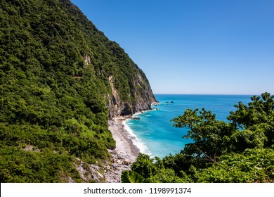View at the Hualien coastline near Taroko Gorge National Park in Taiwan
