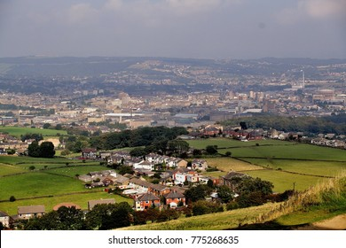 View of Huddersfield West Yorkshire England from Castle hill