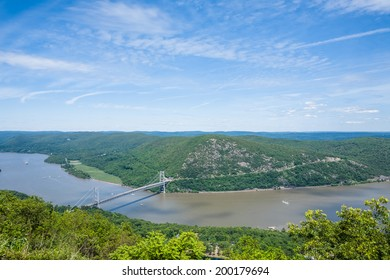 View of the Hudson River taken from Bear Mountain.