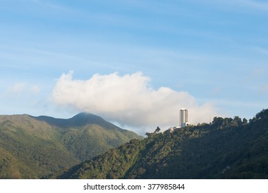 View of Humboldt Hotel, on top of the Avila mountain in Waraira Repano National Park, in Venezuela