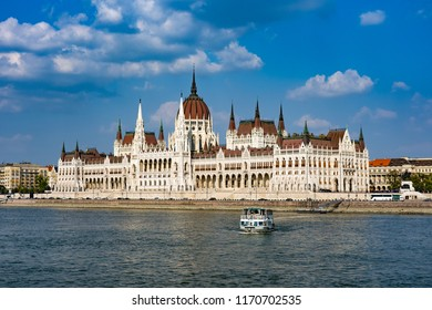 View of the Hungarian Parliament building in Budapest, Hungary