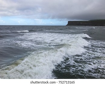 View of Hunt Cliff from the Sea at Saltburn by the Sea