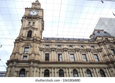 View of the iconic General Post Office, built in Renaissance Revival style between 1860 and 1907, in Melbourne, Victoria, Australia