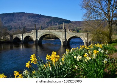 A view of the iconic General Wades Bridge in the Perthshire town of Aberfeldy.
