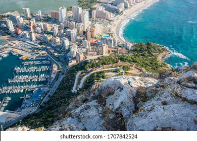 View from Ifach (322m) to Calpe, Costa Blanca, Spain