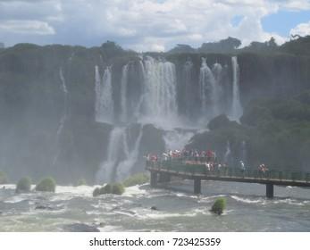 View of the Iguazu Falls, Argentina.