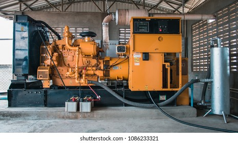 View image of diesel generator unit at factory