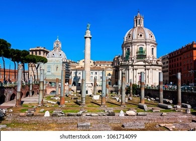 View of imperial forum - Rome, Italy