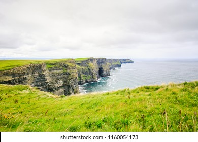 View of the impressive Cliffs of Moher
