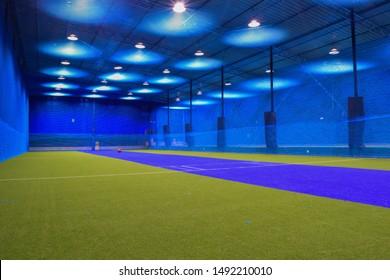 view of an indoor cricket stadium