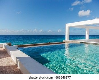 The view at infinity swimming pool St. Tropez in Curacao, Dutch