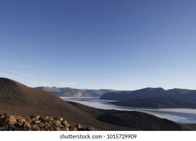 View of the inlet near Qikiqtarjuaq, Broughton Island, Baffin Region