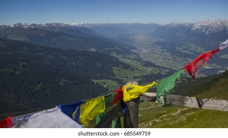 View to Innsbruck from Kellerjoch Hut