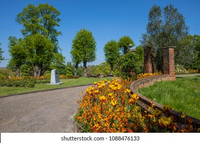A view inside the beautiful Colchester Castle Park in the town of Colchester in Essex, UK.