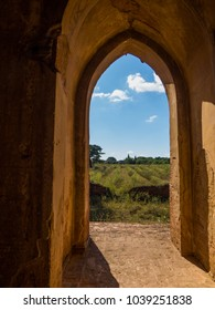 View from inside a Buddhist Temple in Bagan, Myanmar