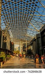 A view inside CityWalk Area. Dubai - UAE. 10 November 2017.