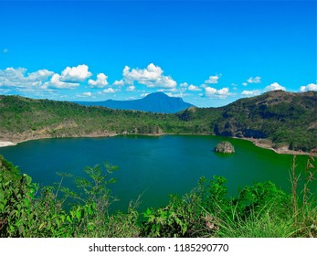 view inside Crater Lake of Taal Volcano the smallest active volcano in the Philippines