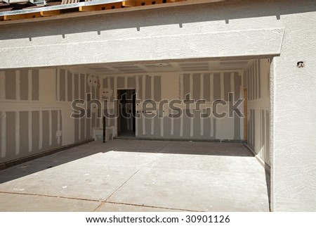 View Inside Garage Construction House Stock Photo Edit Now