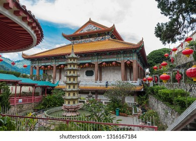 view of the inside of the kek lok si temple in Penang, Malaysia