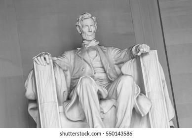 View inside Lincoln Memorial, Washington DC