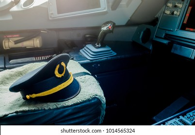 View inside the pilot's cabin