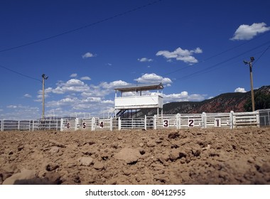 View from inside a small town rodeo arena.
