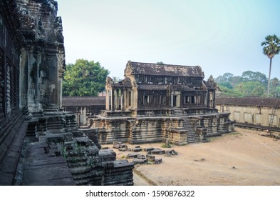 View inside the temple of Angkor Wat