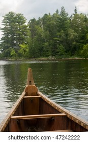 view from inside the voyager canoe in Voyagers National Park