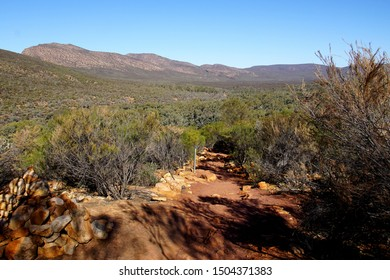 View inside the Wilpena Pound Amphitheatre from the Climb Up to Wangarra Hill Lookout